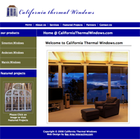 CaliforniaThermalWindows.com Thermal Window Company Website