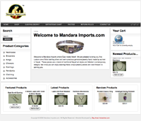 MandaraImports.com Custom Jewelry Website